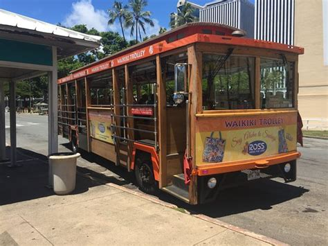 honolulu city lights trolley quot from here to eternity quot beach from blue trolley tour