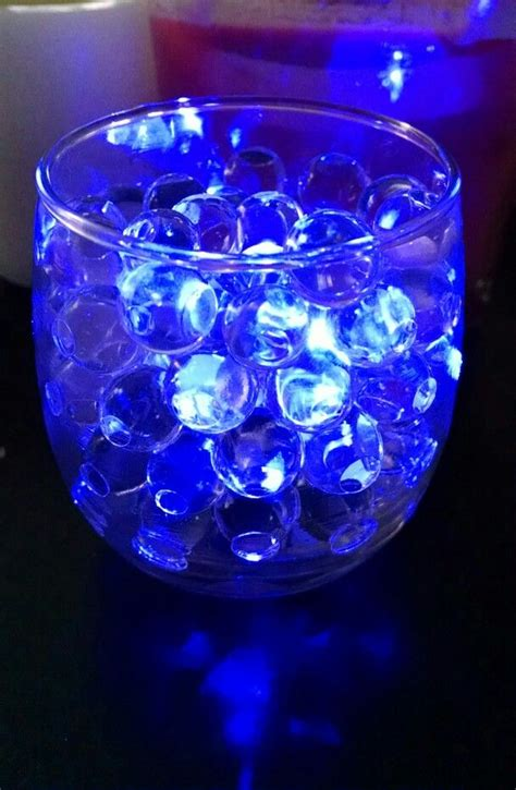 clear water with blue led submersible tea light