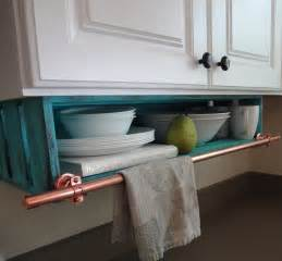 Under Cabinet Kitchen Storage kitchen shelf custom under cabinet with towel rack storage