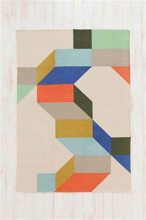 Color Block Area Rug Assembly Home Complex Color Block Handmade Rug Contemporary Rugs By Outfitters