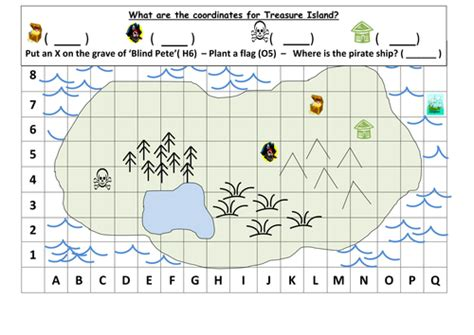 co ordinates treasure map ks1 by mrdhenshaw teaching