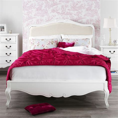 juliette shabby chic white upholstered 6ft super king bed