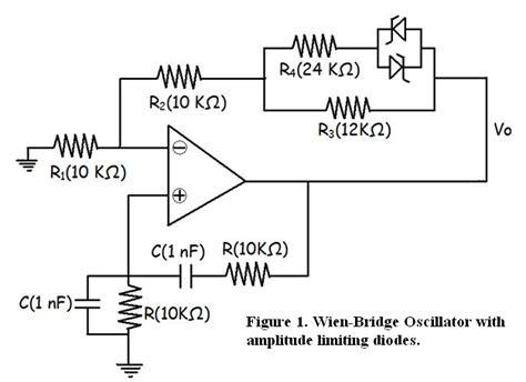 diode stabilised wien bridge oscillator openstax cnx