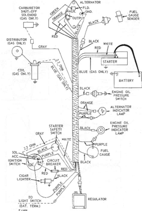 wiring diagram for deere 1020 tractor wiring