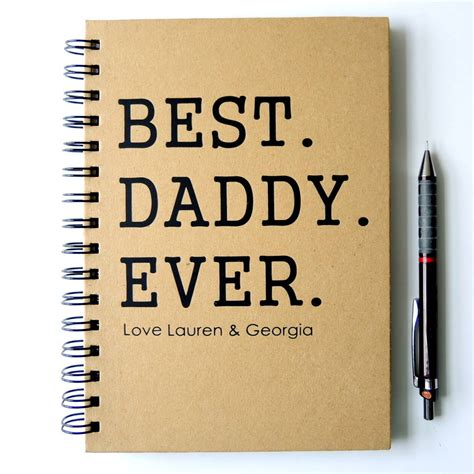 personalised daddy notebook by the alphabet gift shop