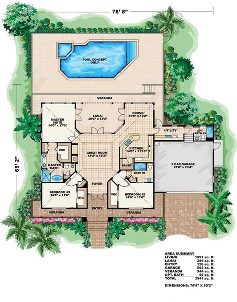 florida bungalow house plans florida house plans vacation house plan coastal home