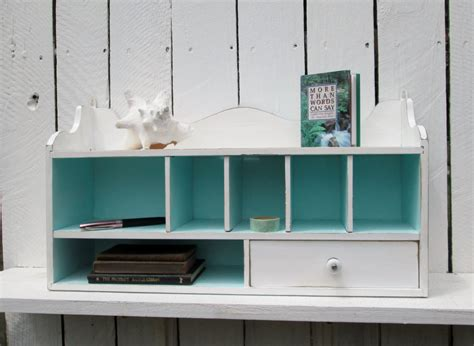 Desk Shelf Organizer desk organizer wall shelf shabby cottage chic cubbyholes