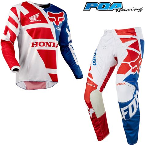 fox motocross kits 2018 fox 180 honda kit combo red 2018 fox mx kit