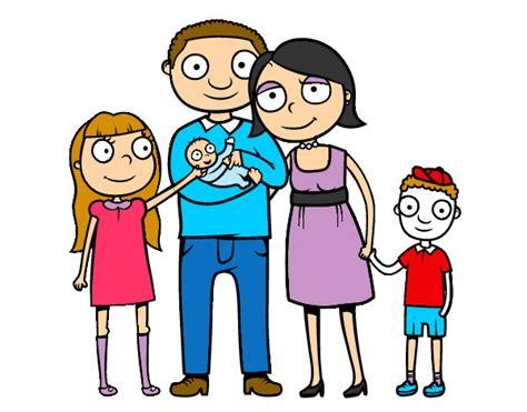 imagenes de la una familia dibujo de la familia felizzzzz pintado por valemanu en