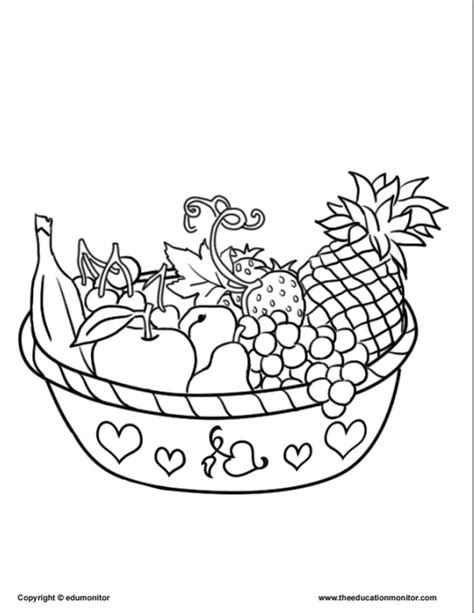 Free Coloring Pages Nutrition Coloring Pages