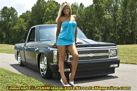 Lainie Miller and a lowered Chevy S 10   Girls & Lowered