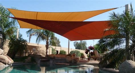 backyard sail shade cover your outdoor space with shade sails the garden glove