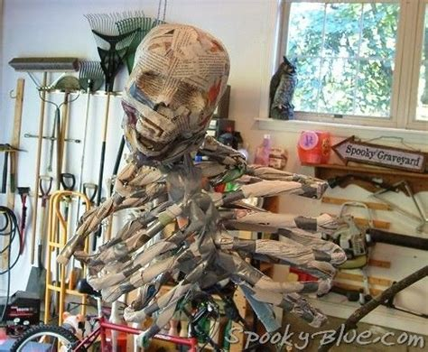 How To Make A Paper Mache Skeleton - build a paper mache skeleton newspaper bones duct