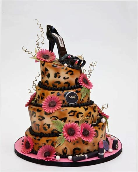 Fancy Birthday Cakes by Leopard Skin Shoe Cake