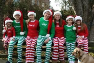 Christmas pajamas family portrait ideas