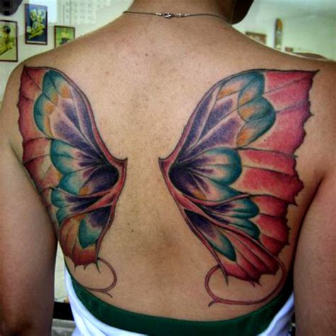 Beautiful Back Tattoo 10 Wings Back Tattoo On Wings On Back Tattoos 2