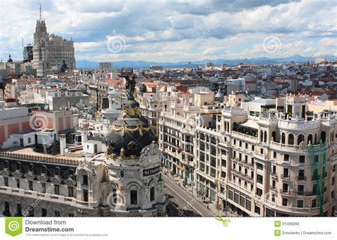 famous french architects metropolis building in madrid on 10 2013 in madrid spain