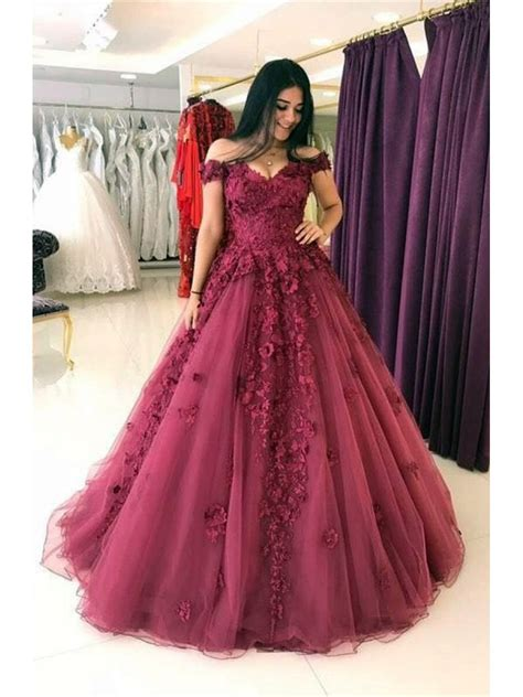 bal gowns ball gown off the shoulder lace prom dresses evening gowns