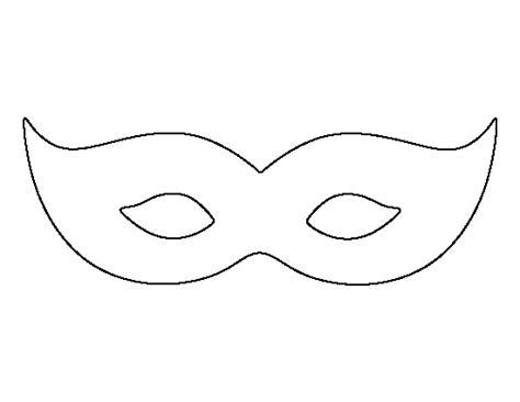 printable mardis gras mask template