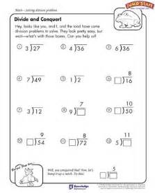 divide and conquer 4th grade math worksheets jumpstart