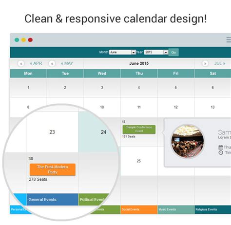 Modern Events Calendar V2 3 0 Responsive Event Scheduler Booking events calendar registration booking codecanyon