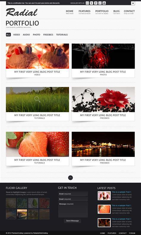 portfolio site templates freebie radial portfolio site template psd premiumcoding