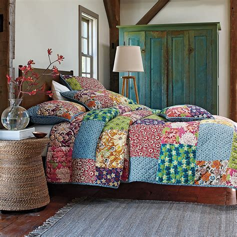 Bed Cover Patchwork - min order 10 free shipping american 100 cotton