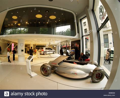 toyota store concept cars and cars in the toyota flagship store on