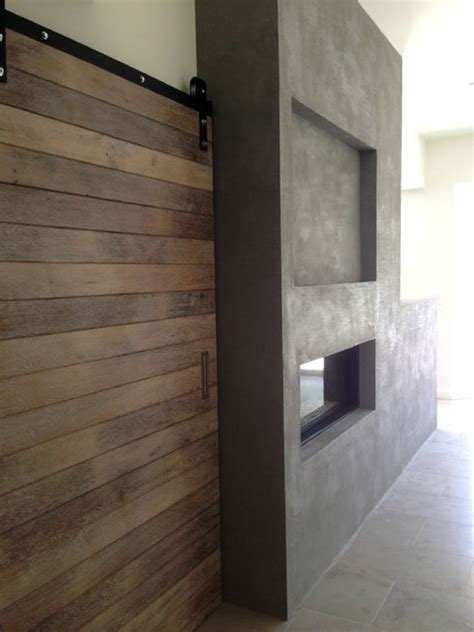 modern concrete floor finish in bedroom in camarillo ca american clay fireplace modern concrete finish