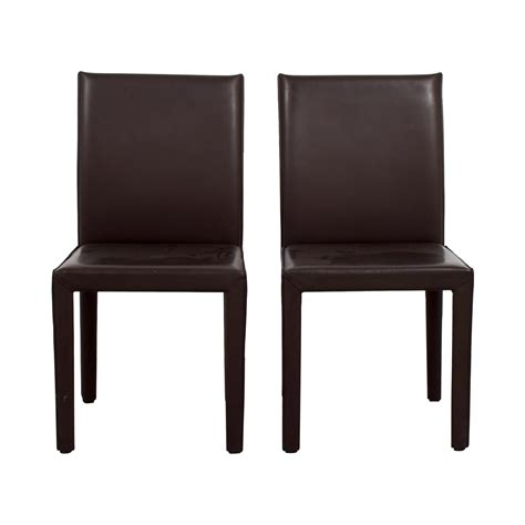 Leather Chair Dining Brown Leather Dining Chair Chairs Seating
