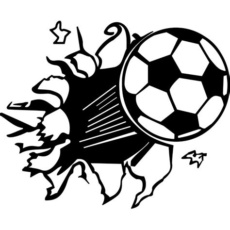 Sticker Image Bola sticker ballon de foot en l air stickers sports et