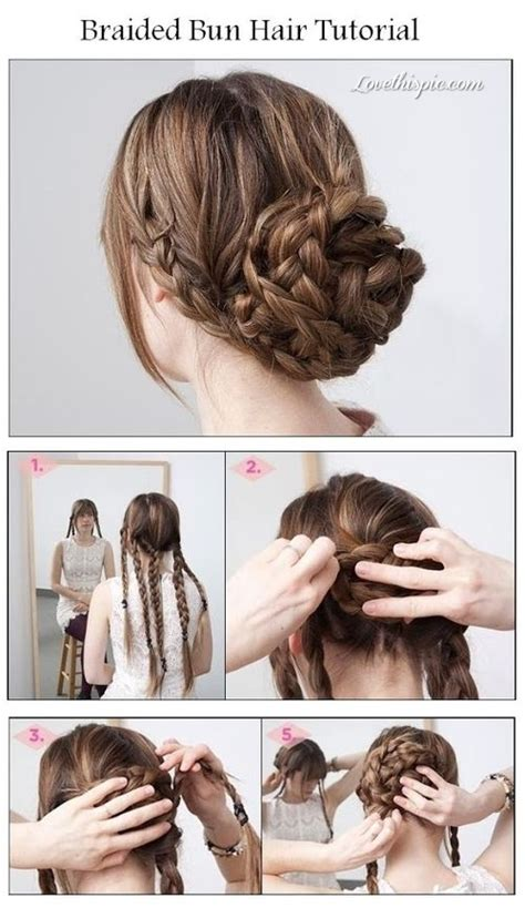 braided hairstyles diy diy braided bun pictures photos and images for facebook