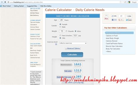 calculator umur seindah mimpiku kalkulator kalori jom guna