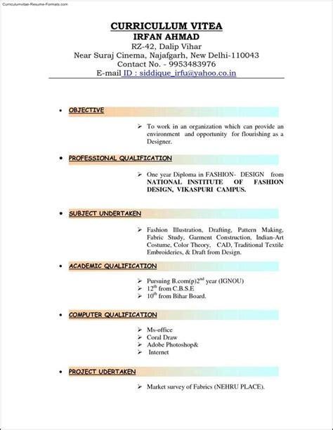 different resume templates free sles exles format resume curruculum vitae free