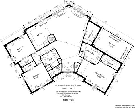 Floor Plans Walkout Basement bonded home construction drawing plans dry stacked block