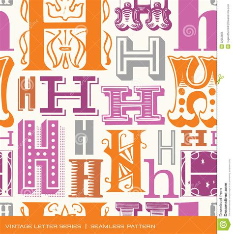h pattern image seamless vintage pattern of the letter h in retro colors
