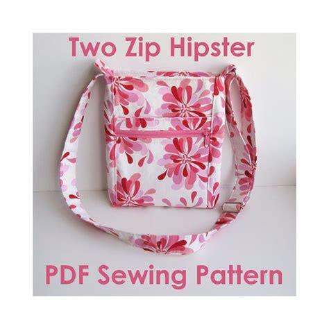 free pattern hipster bag two zip hipster pdf sewing pattern purse patterns