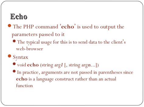 tutorial php echo php echo string and variable phpsourcecode net