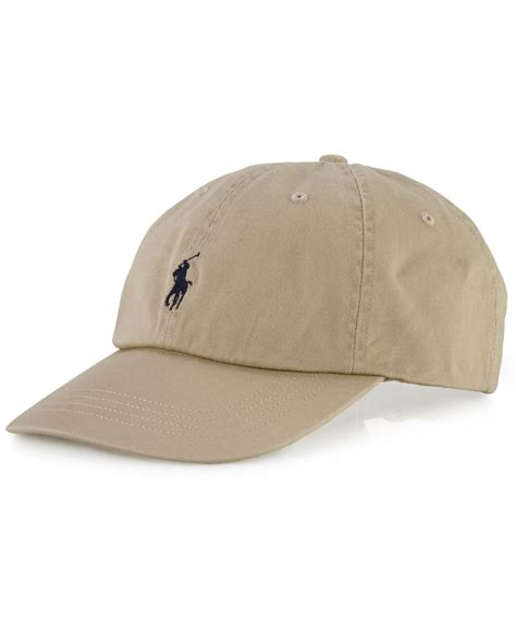 polo ralph classic sport cap in beige for