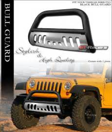 Grill Guard For Jeep Wrangler Matte Black Bull Bar Push Bumper Grill Grille Guard Skid