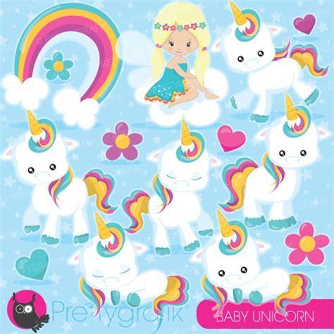 imagenes de unicornios y arcoiris kit imprimible cliparts bebe unicornio jpg y png arcoiris