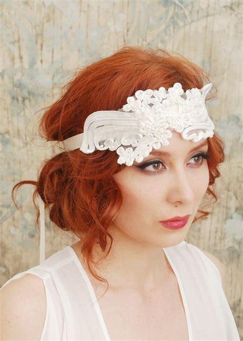 gatsby bobs for a wedding flapper headband 1920s wedding bridal hair piece gatsby