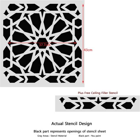 moroccan pattern wall stencil zelij moroccan wall stencils reusable template for diy