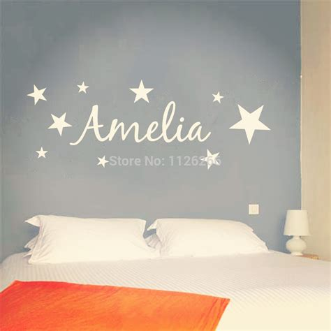 personalized name wall stickers customer made vinyl wall sticker personalized name with removable wall mural