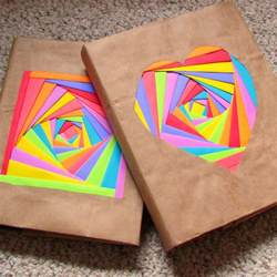 creating colorful book covers with astrobrights papers