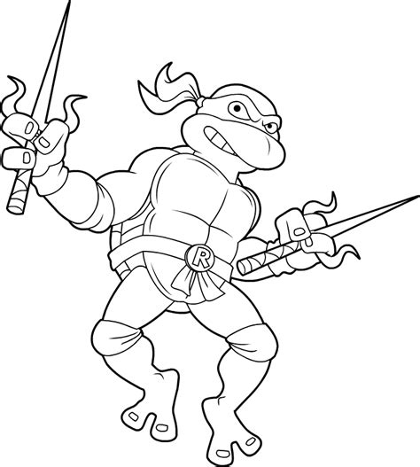 Tmnt Raphael Coloring Pages springfield punx tmnt raphael coloring page