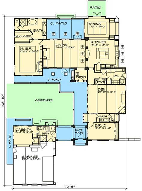 plan w36812jg casita and courtyard classic e