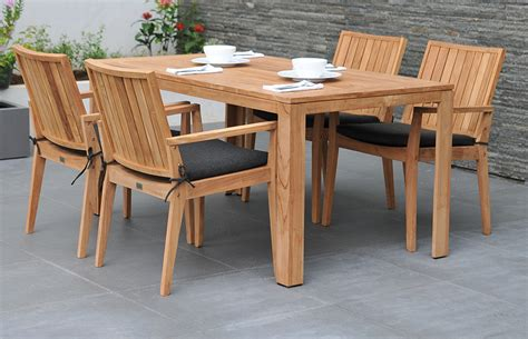 Wooden Garden Table Set Chairs Seating Wooden Patio Furniture Sets