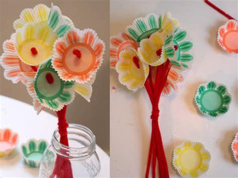 Paper Flower Craft For Preschoolers - preschool crafts for s day paper cupcake