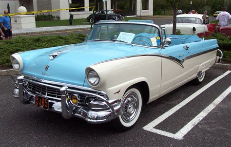1956 Ford Convertible 1956 Ford Fairlane Convertible Blue White